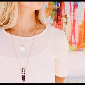 Stella & Dot Jewelry - Stella & Dot Legend Black/Gold Necklace